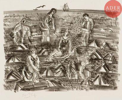Raoul Dufy (1877-1953) Pêcheurs de crevettes....