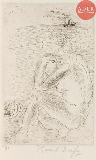 Raoul Dufy (1877-1953) Baigneuse au coquillage...