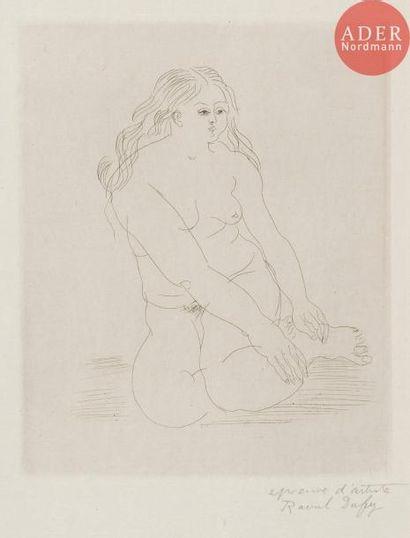 Raoul Dufy (1877-1953) Baigneuse nue de face,...