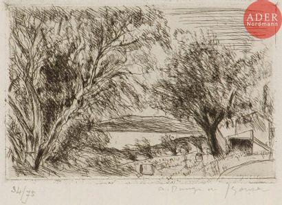 André Dunoyer de Segonzac (1884-1974) Saint-Tropez,...