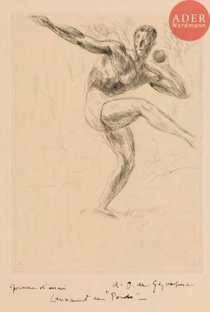 André Dunoyer de Segonzac (1884-1974) [Sports]....