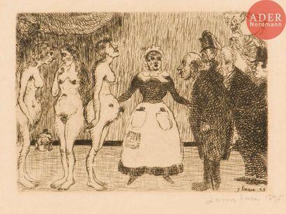 James Ensor (1860-1949) Les Vieux polissons....