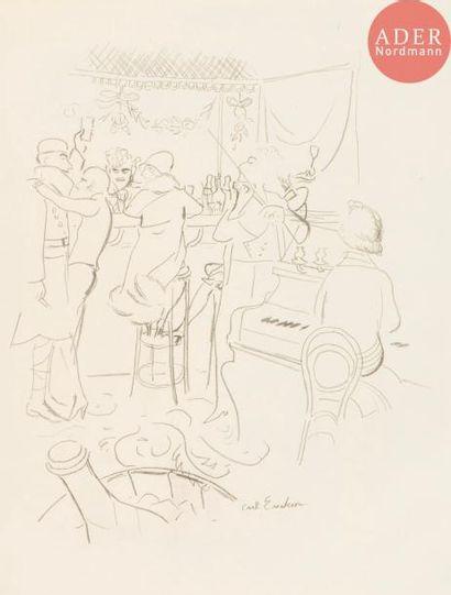 Carl Erickson (1891-1958) Scène de bar. Vers...
