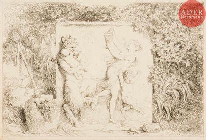 Jean-Honoré Fragonard (1732-1806) 2 pl. de la suite des Quatre Bacchanales, ou Jeux...