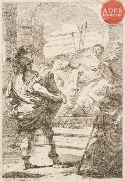 Jean-Honoré Fragonard (1732-1806) Fabius Maximus devant le Sénat de Carthage (anciennement...