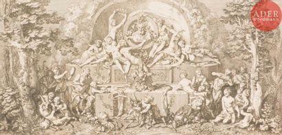 Claude Gillot (1673-1722) Fête de faune,...