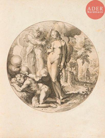 Hendrick Goltzius (1588-1617) (d'après) Dies VI. (Pl. d'une suite de 7 sur La Création...
