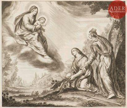 Grégoire Huret (1606-1670) Sainte Catherine...