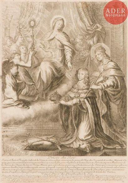 Grégoire Huret (1606-1670) Saint Louis présente...