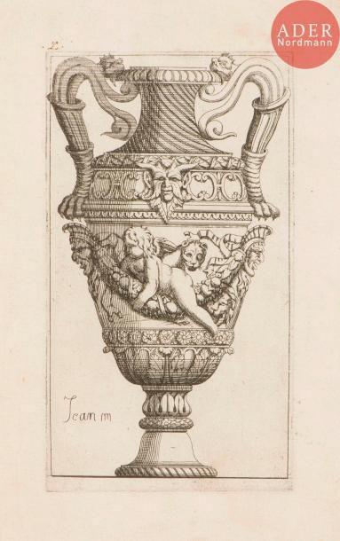 Jean Marot (1619-1679) Divers sujets de vases. Eau-forte. Formats divers. Belles...