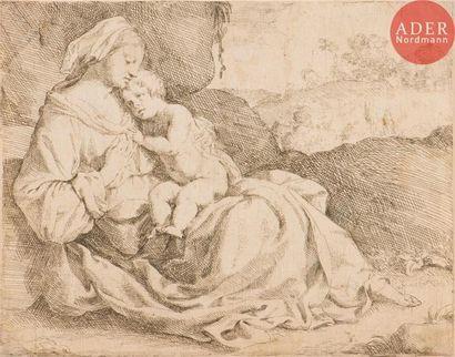 Nicolas Prévost (1604-1670) Vierge à l'Enfant....