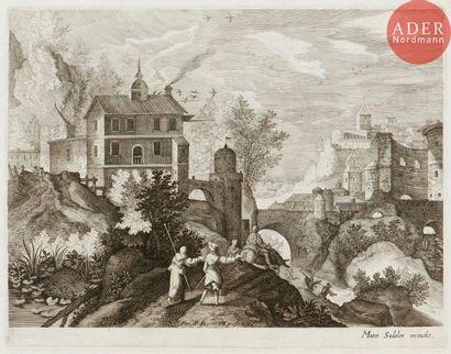 Aegidius Sadeler (1570-1629) Huit paysages...