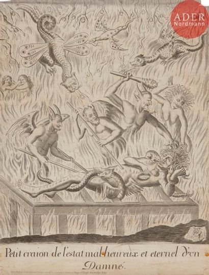 Imagerie populaire?(tableaux de mission) (vers 1670-1680) Petit craion de l'estat...