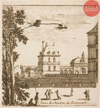Israël Silvestre (1621-1691) 6 pl. pour Differentes...