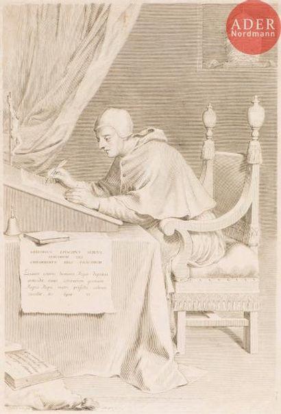 Claude Mellan (1598-1688) Saint Grégoire....
