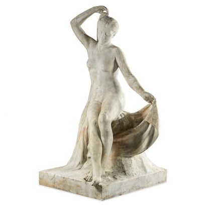 ALBERT AUBLET (1851-1938) Sortie de bain,...