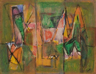 Geer VAN VELDE [hollandais] (1898-1977) Composition,...