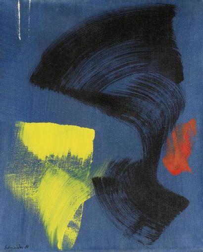 Gérard SCHNEIDER (1896-1986) Composition,...