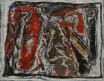 Jacques DOUCET (1924-1994) Composition Gouache...