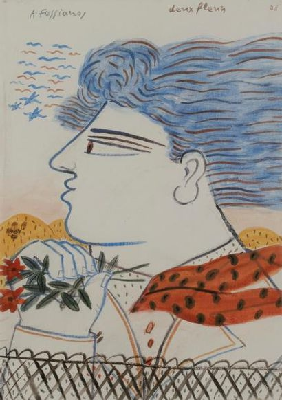 Alexandre FASSIANOS [grec] (né en 1935) Deux...