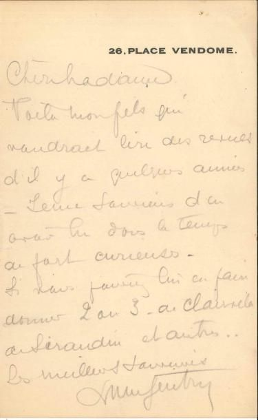 Lucien GUITRY (1860-1925) 3 LAS; 2 pages...