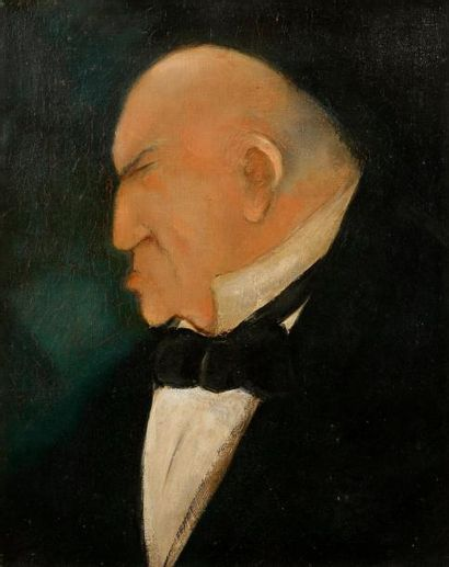 Sacha GUITRY Lucien Guitry Huile sur toile...