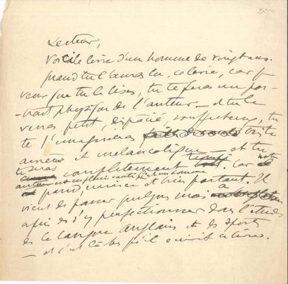Sacha GUITRY Manuscrit autographe, [1905?];...