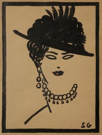 Sacha GUITRY Portrait de femme, [ca 1905?]...