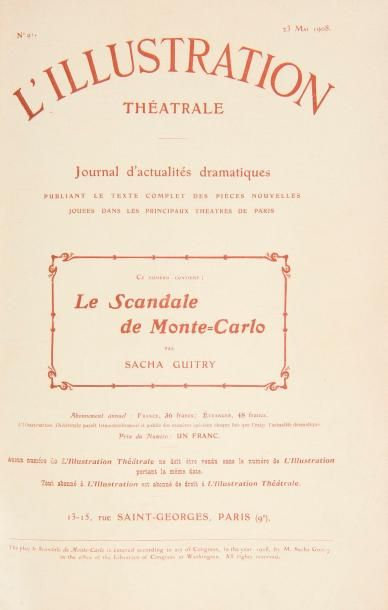 Sacha GUITRY [Théâtre] 24 numéros de L'Illustration...