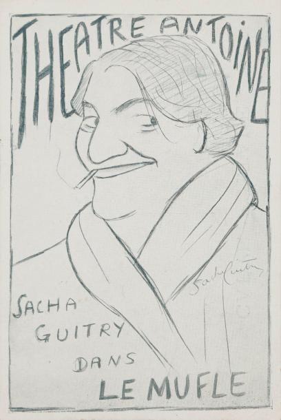 Sacha GUITRY 2 cartes postales publicitaires...
