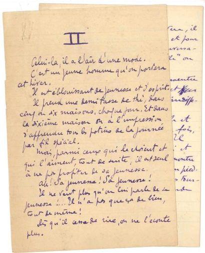 Sacha guitry Manuscrit autographe, [pour...