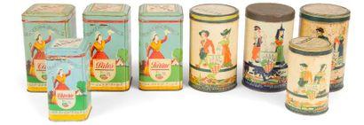 [Sacha GUITRY] 8 boîtes métalliques publicitaires,...