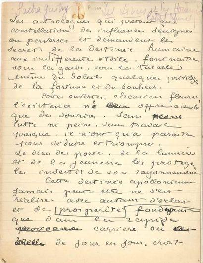 Laurent TAILHADE (1854-1919) Manuscrit autographe,...