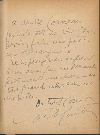 Sacha GUITRY Pasteur, pièce en cinq actes...
