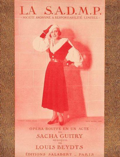 Sacha GUITRY 4 partitions de comédies musicales,...