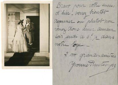 Yvonne PRINTEMPS (1894-1977) LAS à un ami;...