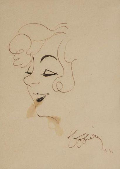 Leonetto CAPPIELLO (1875-1942) Portrait d'Yvonne...