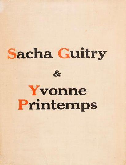 [Sacha GUITRY] Sacha Guitry et Yvonne Printemps...