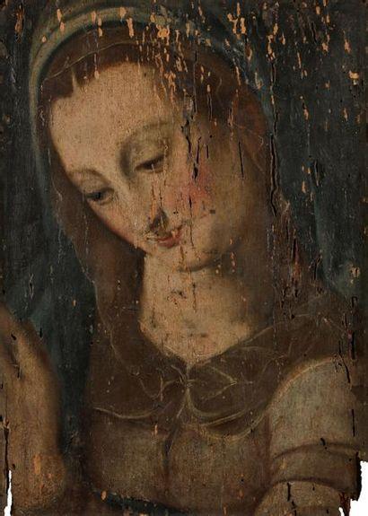 École ITALIENNE du XVIIe siècle Vierge Panneau...