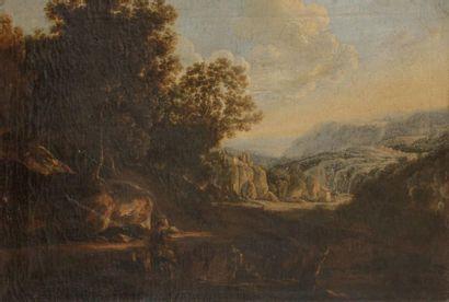 École VENITIENNE du XVIIIe siècle Paysage...