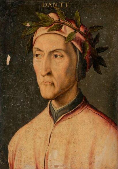 Attribué à Francesco UBERTINI dit BACHIACCA (1494-1557) Portrait de Dante Alighieri...
