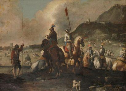 Antonio CALZA (Vérone 1653- 1725) Le siège...
