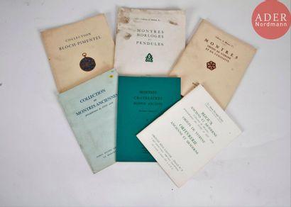 MONTRES ANCIENNES Ensemble de 6 catalogues...