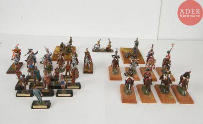 Ensemble comprenant 14 cavaliers premier...
