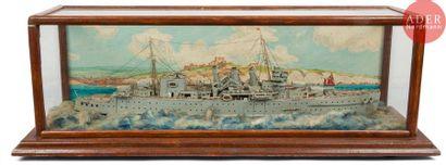 Diorama Maquette du Cumberland (croiseur),...
