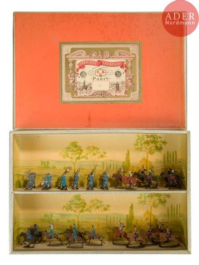 CBG Diorama de 31 plats d'étain représentant,...