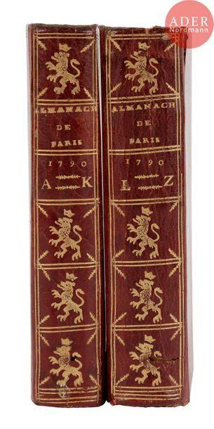 [ALMANACH]. Almanach des adresses de Paris,...