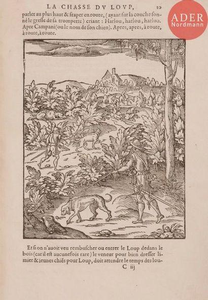 CLAMORGAN (Jean de). La Chasse du loup, necessaire...