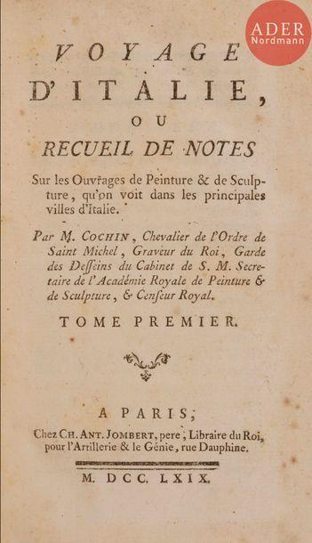 COCHIN (Charles-Nicolas). Voyage d'Italie,...