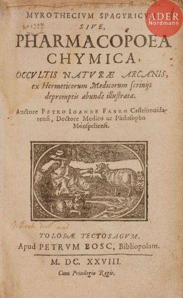 [ALCHIMIE] - FABRE (Pierre Jean). Myrothecium...